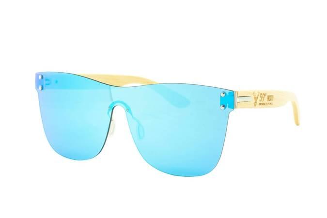 59 North Wheels - Okulary przeciwsłoneczne (Bez oprawek) / Jasnoniebiesko turkusowe