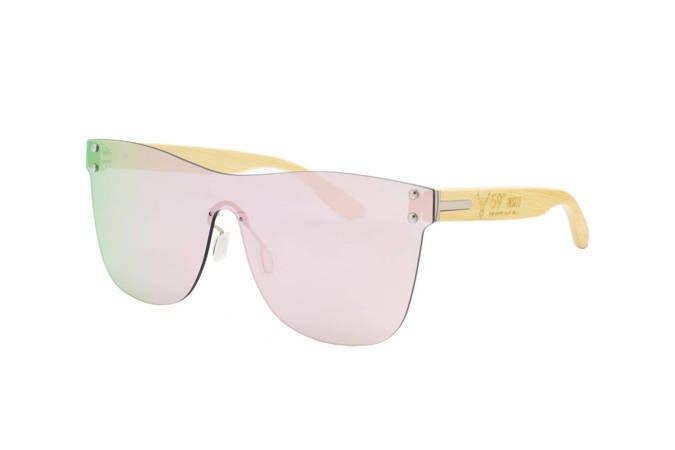 59 North Wheels - Okulary przeciwsłoneczne (Bez oprawek) / Różowo srebrne