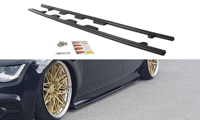 Dokładki progów Maxton Audi S7 / A7 S-Line C7 (carbon look)