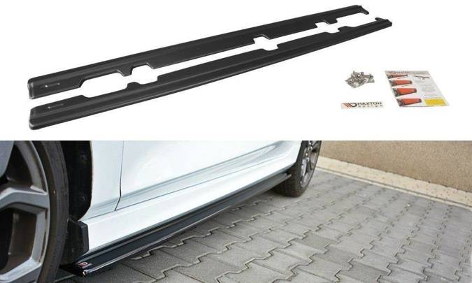 Dokładki progów Maxton Ford Fiesta MK8 ST/ ST-Line (czarny mat)