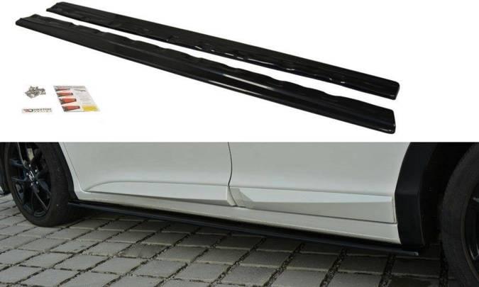 Dokładki progów Maxton Honda Civic MK9 Polift (carbon look)