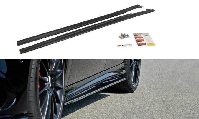 Dokładki progów Maxton Mercedes A W176/ CLA 117 AMG/ CLA 117 AMG Line Polift (carbon look)