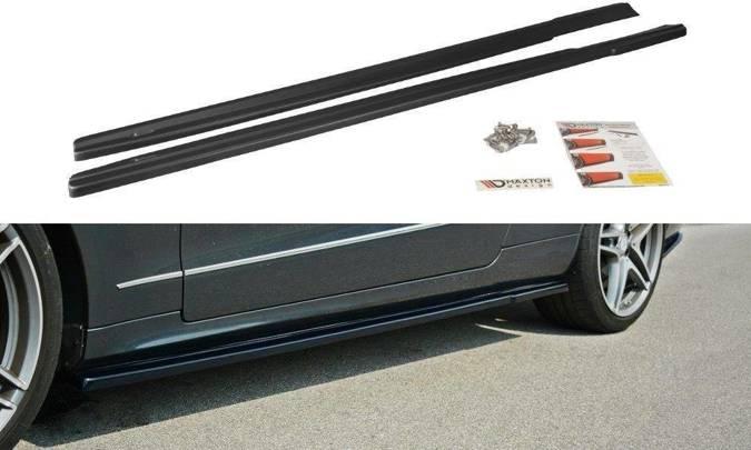 Dokładki progów Maxton Mercedes E W212 (czarny mat)