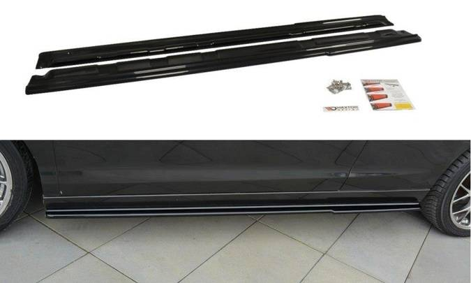 Dokładki progów Maxton Renault Laguna MK 3 Coupe (carbon look)