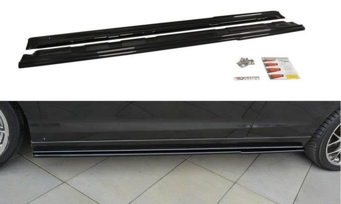 Dokładki progów Maxton Renault Laguna MK 3 Coupe (czarny połysk)
