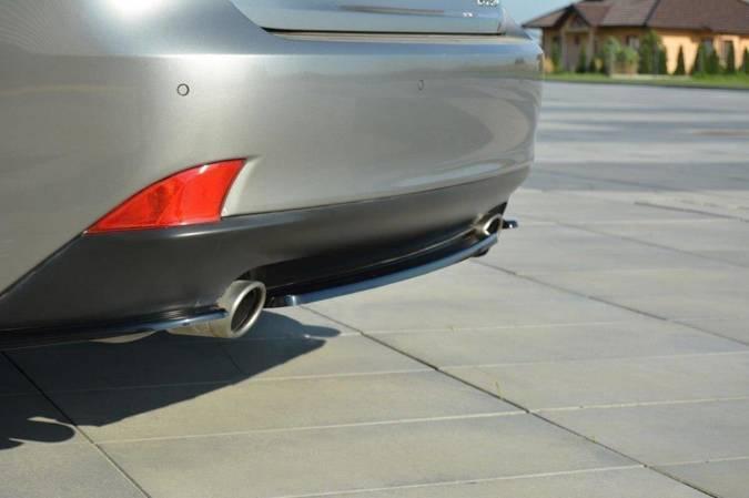 Splitter tylny srodkowy Maxton Lexus IS MK3 T (bez dyfuzora) (czarny mat)