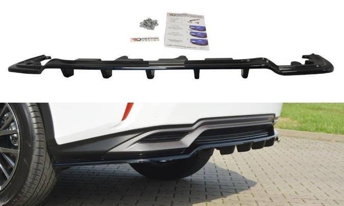 Splitter tylny srodkowy Maxton Lexus RX MK4 H (z dyfuzorem) (czarny mat)